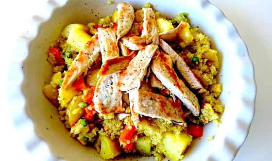 Warm turkey and quinoa salad