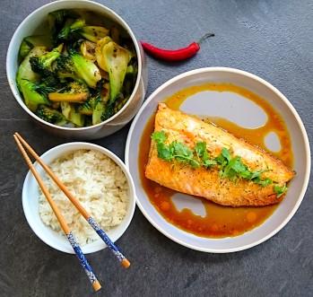 Teriyaki salmon meal